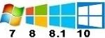 100% compatible Windows XP SP3, Vista, 7 SP1, 8, 8.1 et 10